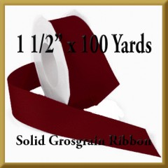 066- 1_1_2 x 100 yards Solid Grosgrain Ribbon Product Image