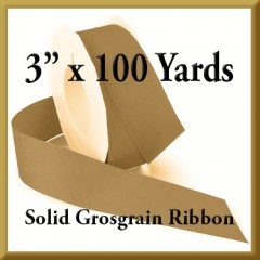 066- 3 x 100 yards Solid Grosgrain Ribbon Product Image
