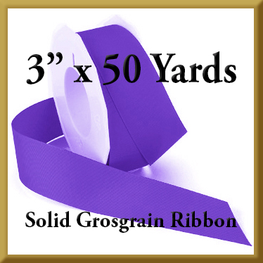 066- 3 x 50 yards Solid Grosgrain Ribbon Product Image