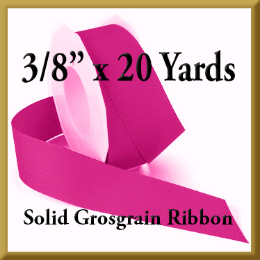 066- 3_8 x 20 yards Solid Grosgrain Ribbon Product Image