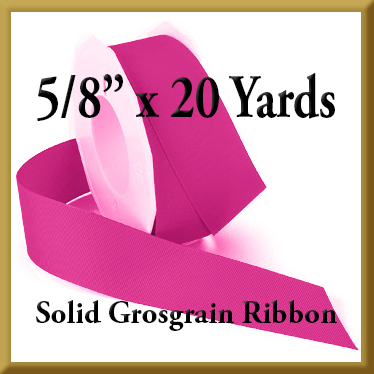066- 5_8 x 20 yards Solid Grosgrain Ribbon Product Image