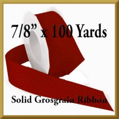 066- 7_8 Inch x 100 yards Solid Grosgrain Ribbon Product Image