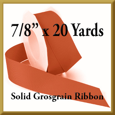 066- 7_8 x 20 yards Solid Grosgrain Ribbon Product Image