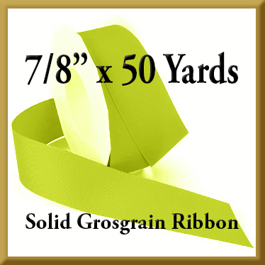 066- 7_8 x 50 yards Solid Grosgrain Ribbon Product Image