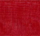 918-194 Rose Red Sheer Organdy Ribbon