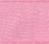 918-219 Dusty Rose Sheer Organdy Ribbon