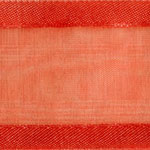 938-409 Hot Coral Sheer Delight Satin Edge Ribbon
