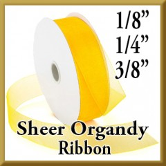 "918 Sheer Organdy Ribbon Product Image 1/8"", 1/4"" & 3/8"" Widths"