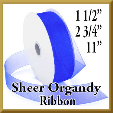 918 Sheer Organdy Ribbon Product Image 1 1/2, 2 3/4, & 11 Inch Widths