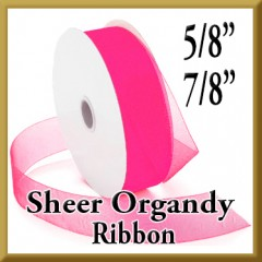 918 Sheer Organdy Ribbon Product Image 5/8 & 7/8 Inch Widths