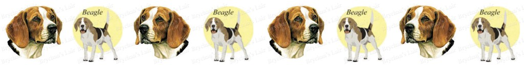 Beagle Dog Breed Custom Printed Grosgrain Ribbon