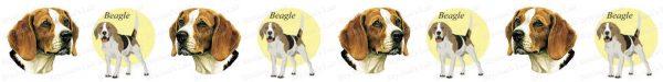 Beagle Dog Breed Custom Printed Grosgrain Ribbon