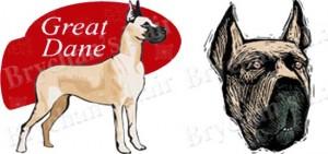 Great Dane Dog Breed Ribbon Design