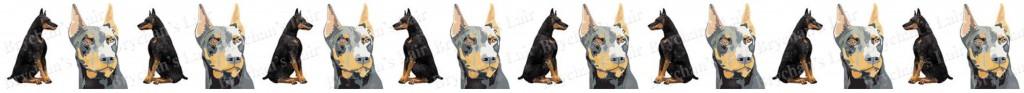 Doberman Dog Breed Custom Printed Grosgrain Ribbon