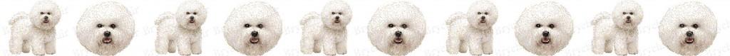 Bichon Frises Dog Breed Custom Printed Grosgrain Ribbon
