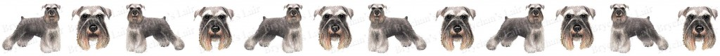 Miniature Schnauzer Dog Breed Custom Printed Grosgrain Ribbon
