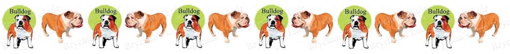 Bulldog Dog Breed Custom Printed Grosgrain Ribbon