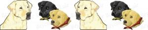 Labrador Retriever Medley Dog Breed Ribbon Design