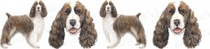 Springer Spaniel Dog Breed Ribbon Design
