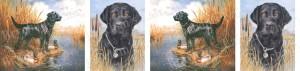 Black Labrador Retriever Dog Breed Ribbon Design