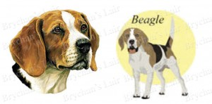 Beagle Dog Breed Ribbon Design