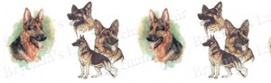 German Shepherd Dog Breed Ribbon Design