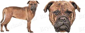 Mastiff Dog Breed Ribbon Design