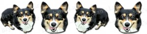 Tri-Colored Welsh Corgi Dog Breed Ribbon Design
