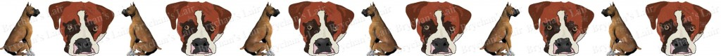 Boxer Dog Breed Custom Printed Grosgrain Ribbon