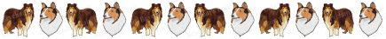 Collie Dog Breed Custom Printed Grosgrain Ribbon