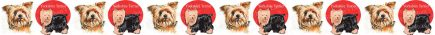 Yorkshire Terrier Dog Breed Custom Printed Grosgrain Ribbon