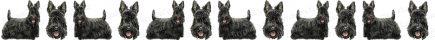 Scottish Terrier Dog Breed Custom Printed Grosgrain Ribbon