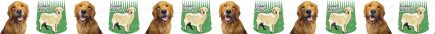 Golden Retriever Dog Breed Custom Printed Grosgrain Ribbon