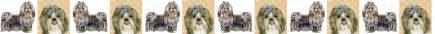 Shih Tzu Dog Breed Custom Printed Grosgrain Ribbon