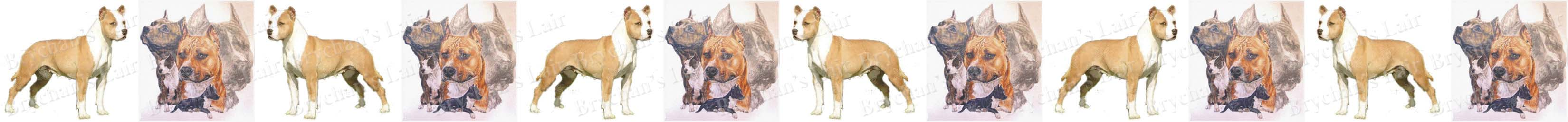 American Staffordshire Terrier Dog Breed Custom Printed Grosgrain Ribbon
