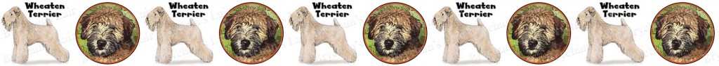 Wheaten Terrier Dog Breed Custom Printed Grosgrain Ribbon