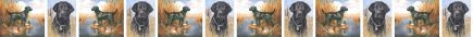 Black Labrador Retriever Dog Breed Custom Printed Grosgrain Ribbon