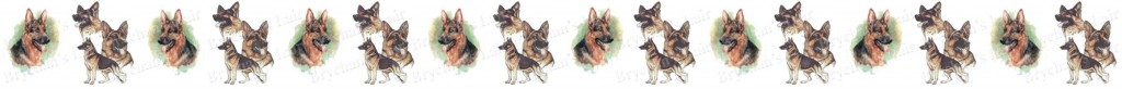 German Shepherd Dog Breed Custom Printed Grosgrain Ribbon