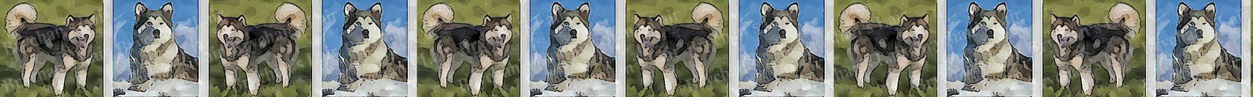Alaskan Malamute Dog Breed Custom Printed Grosgrain Ribbon