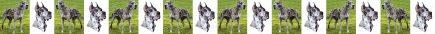 Merle Great Dane No1 Dog Breed Custom Printed Grosgrain Ribbon