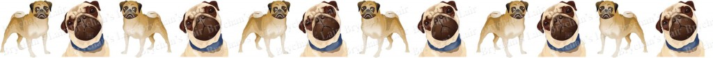 Pug No1 Dog Breed Custom Printed Grosgrain Ribbon