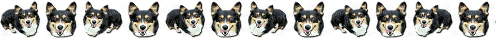Tri-Colored Welsh Corgi Dog Breed Custom Printed Grosgrain Ribbon