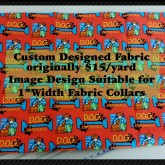 Dog Obedience RED Custom Fabric Pic No2