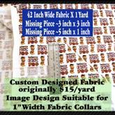 Dog Obedience Graduate Custom Fabric Pic No2