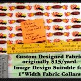 Flaming Flyball Custom Fabric