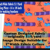 Paws 4 Agility Red Custom Fabric
