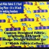 Paws 4 Agility Yellow Custom Fabric
