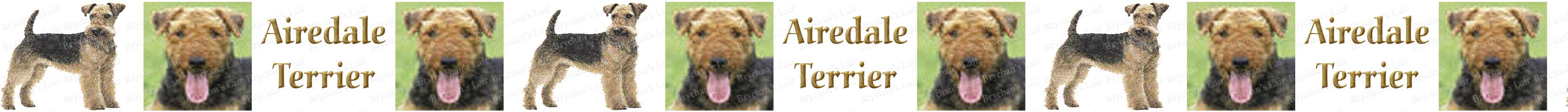 Airedale Terrier Labeled Dog Breed Custom Printed Grosgrain Ribbon