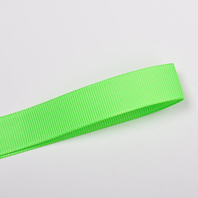 Wholesale Acid Green 556 Solid Grosgrain Ribbon by the Roll