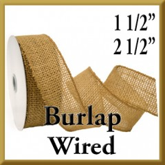 Product Image Wired Burlap Ribbon